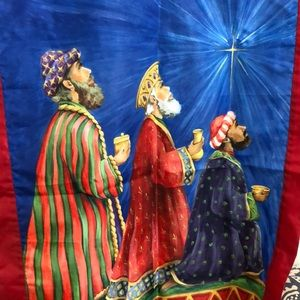"3 WiseMen Christmas flag/banner 28"" w x 41.5""t"